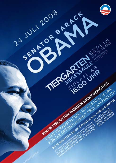 Obama poster from Berlin speech